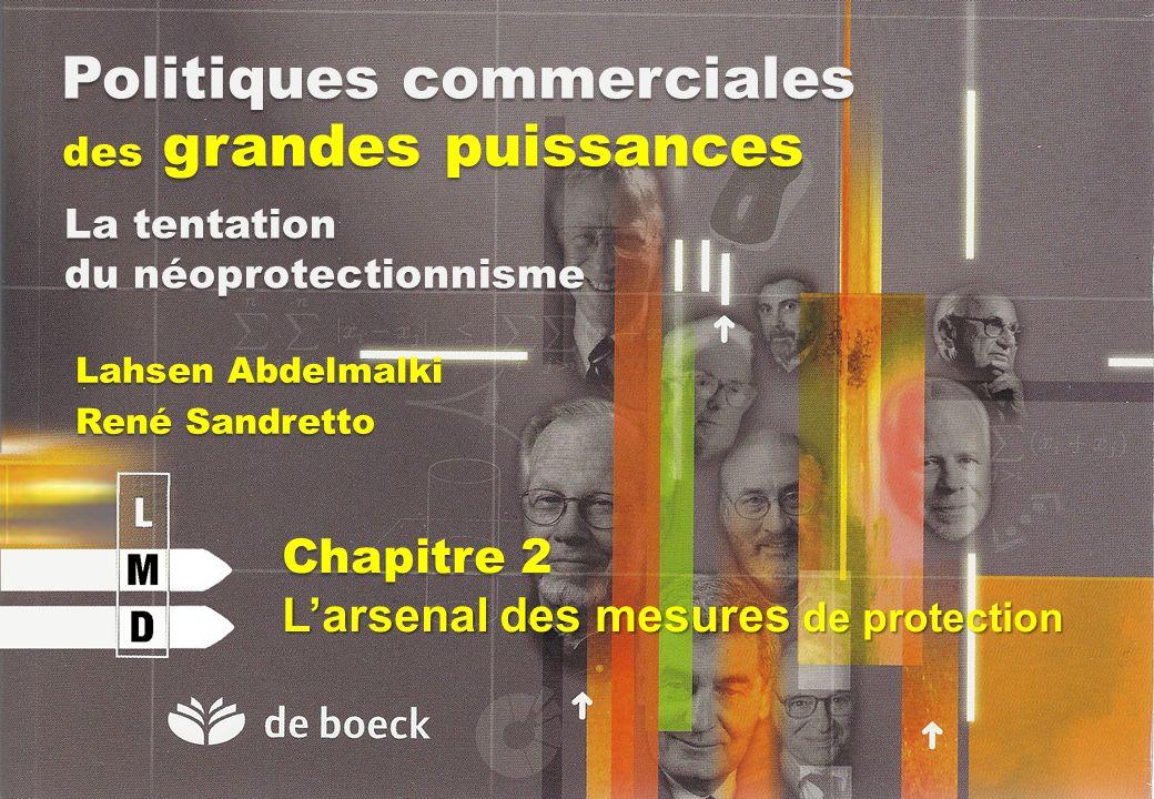 Politiques commerciales des grandes puissances Lahsen Abdelmalki René Sandretto La tentation du néoprotectionnisme Chapitre 2 Larsenal des mesures de