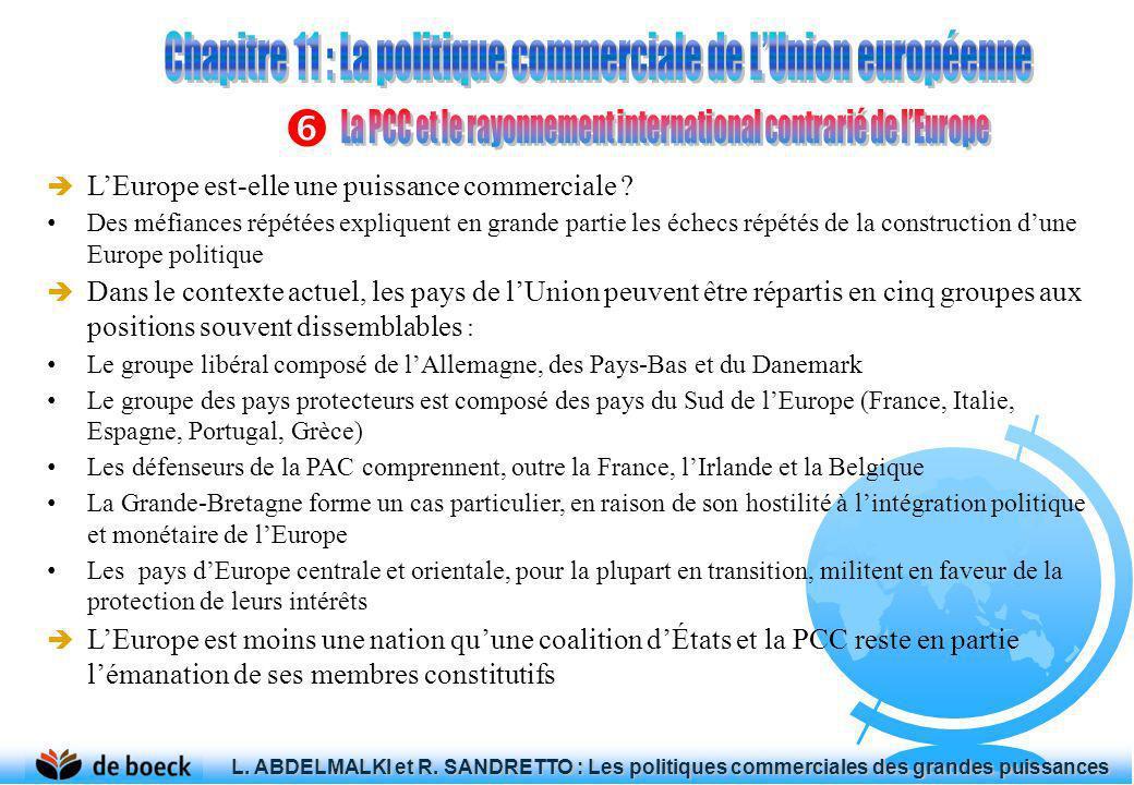 LEurope est-elle une puissance commerciale ? Des méfiances répétées expliquent en grande partie les échecs répétés de la construction dune Europe poli