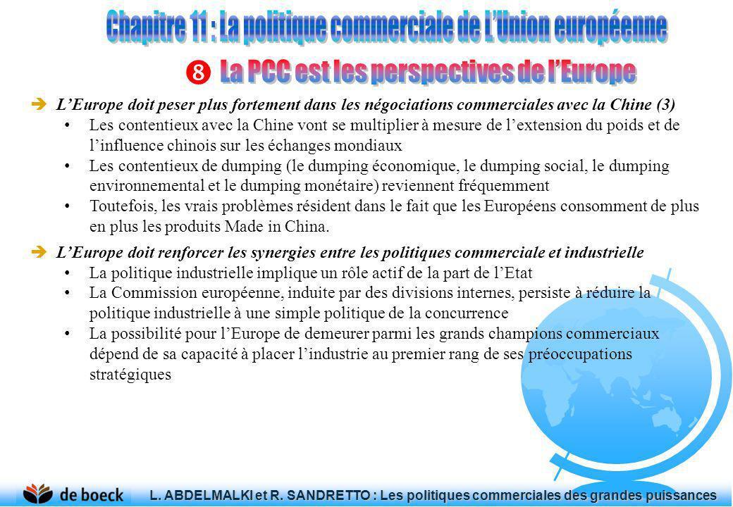 LEurope doit peser plus fortement dans les négociations commerciales avec la Chine (3) Les contentieux avec la Chine vont se multiplier à mesure de le