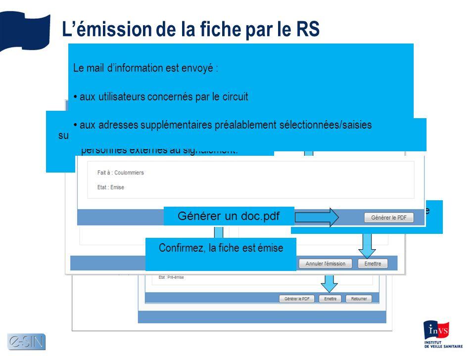 Un clic sur le bouton Vous pouvez inclure des adresses mail supplémentaires, pour expédier un email à des personnes externes au signalement.