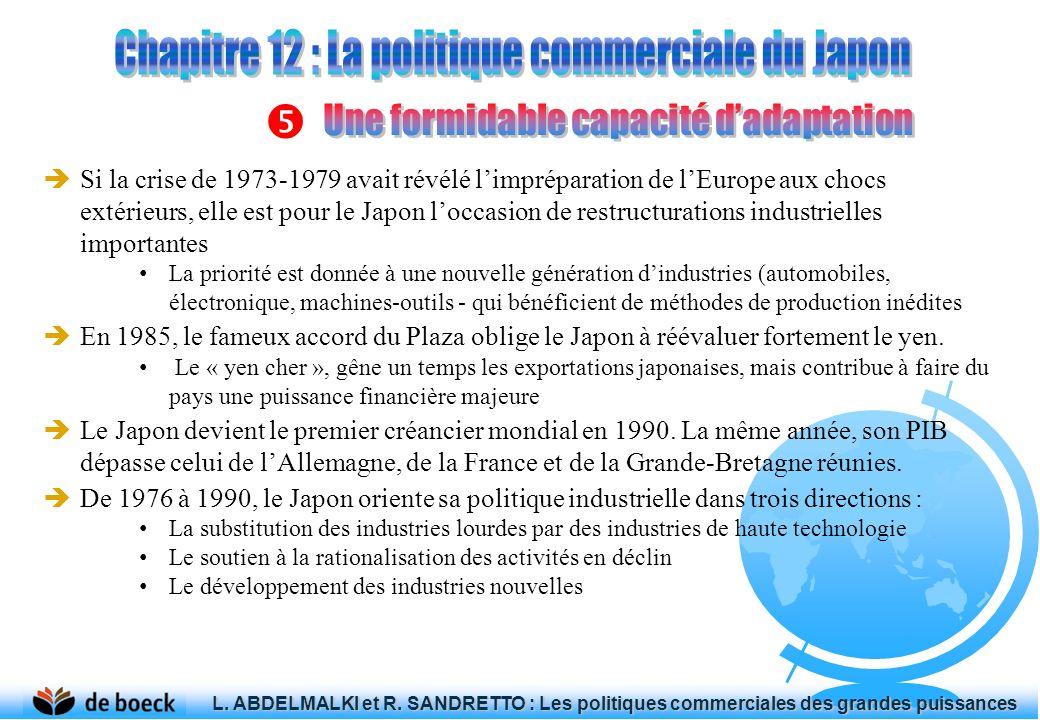 Si la crise de 1973-1979 avait révélé limpréparation de lEurope aux chocs extérieurs, elle est pour le Japon loccasion de restructurations industriell