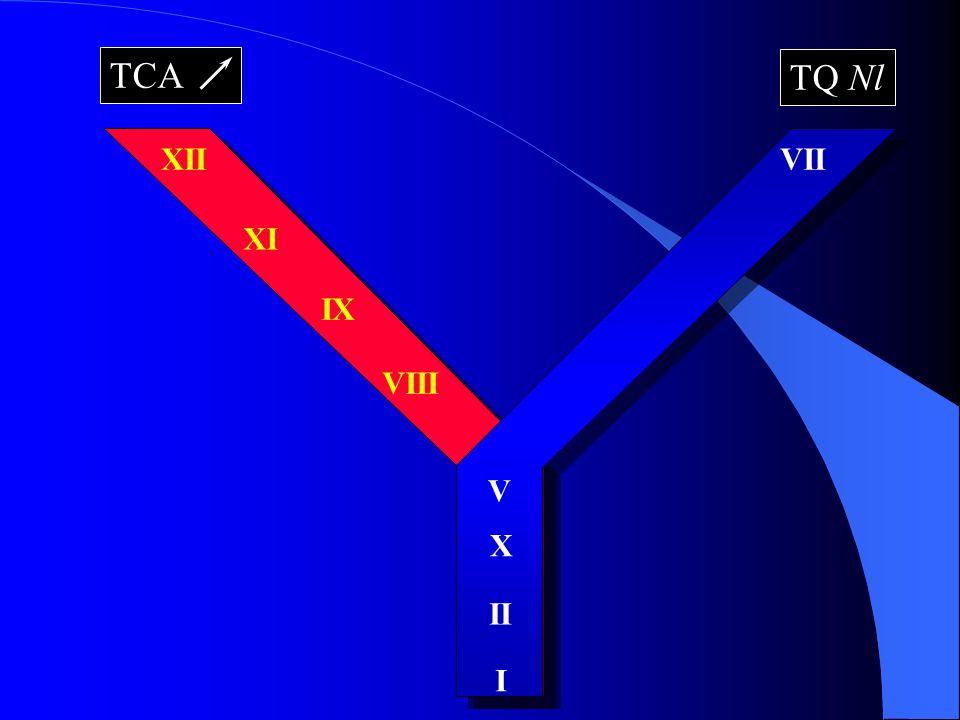 XII XI IX VIII VII X II I V TCA TQ Nl