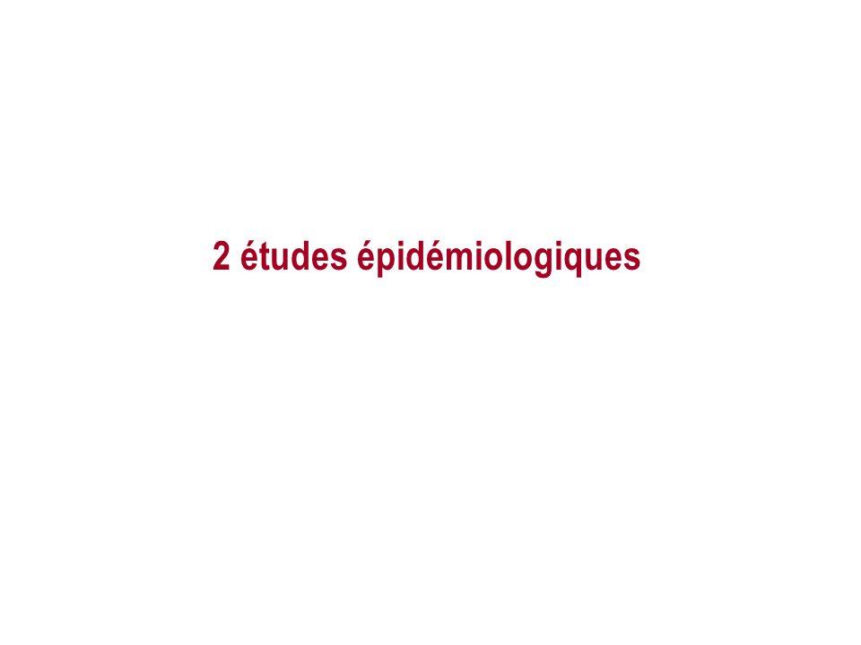 2 études épidémiologiques