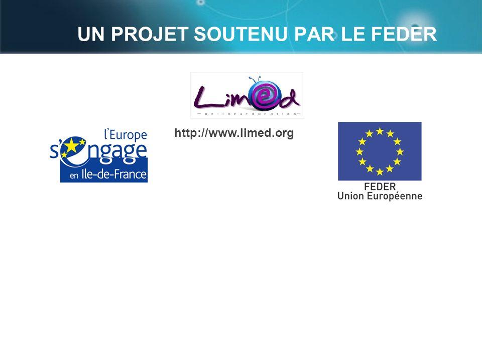 UN PROJET SOUTENU PAR LE FEDER page 20 http://www.limed.org