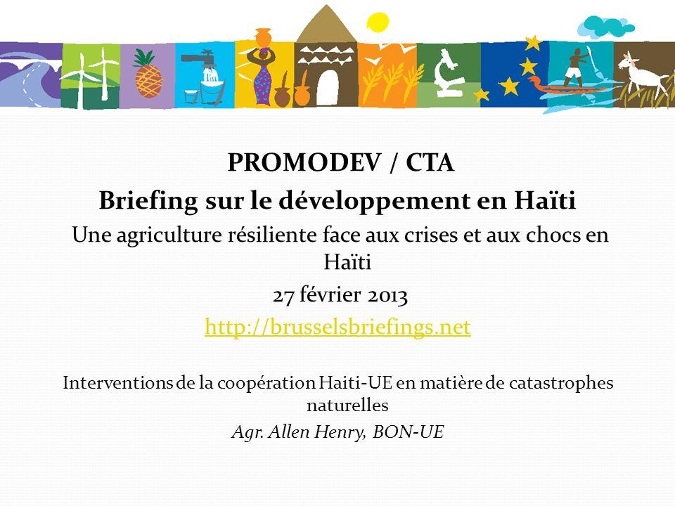 Interventions de lUE en Haïti Allen S HENRY BON 27 février 2013