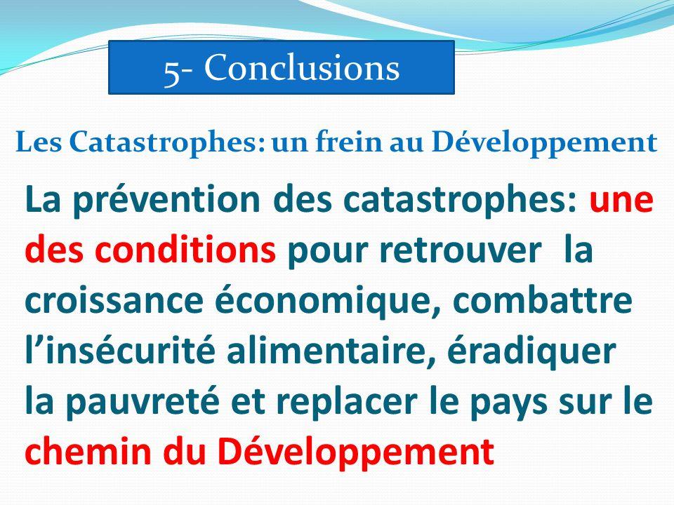 La prévention des catastrophes: une des conditions pour retrouver la croissance économique, combattre linsécurité alimentaire, éradiquer la pauvreté e