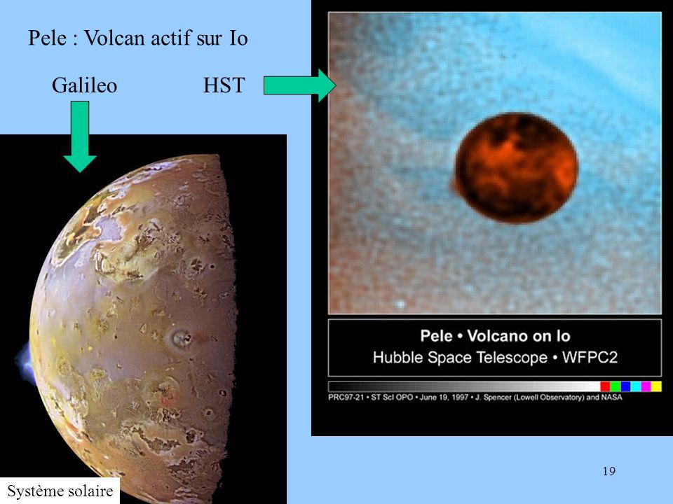 19 pelevolcanio97-21.jpg Pele : Volcan actif sur Io Galileo HST Système solaire
