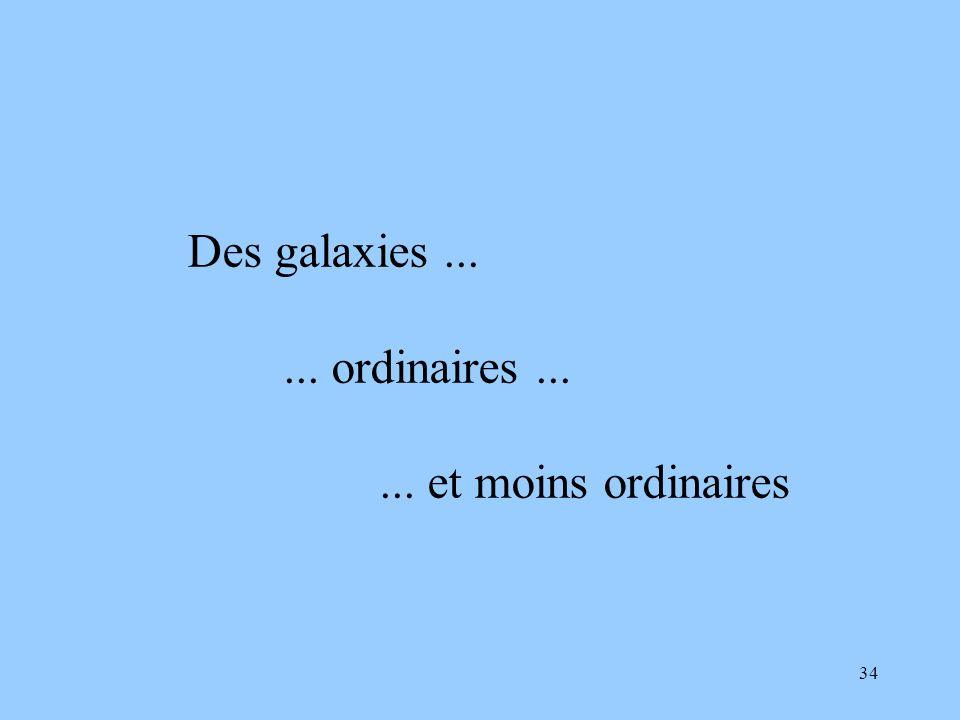 34 Des galaxies...... ordinaires...... et moins ordinaires