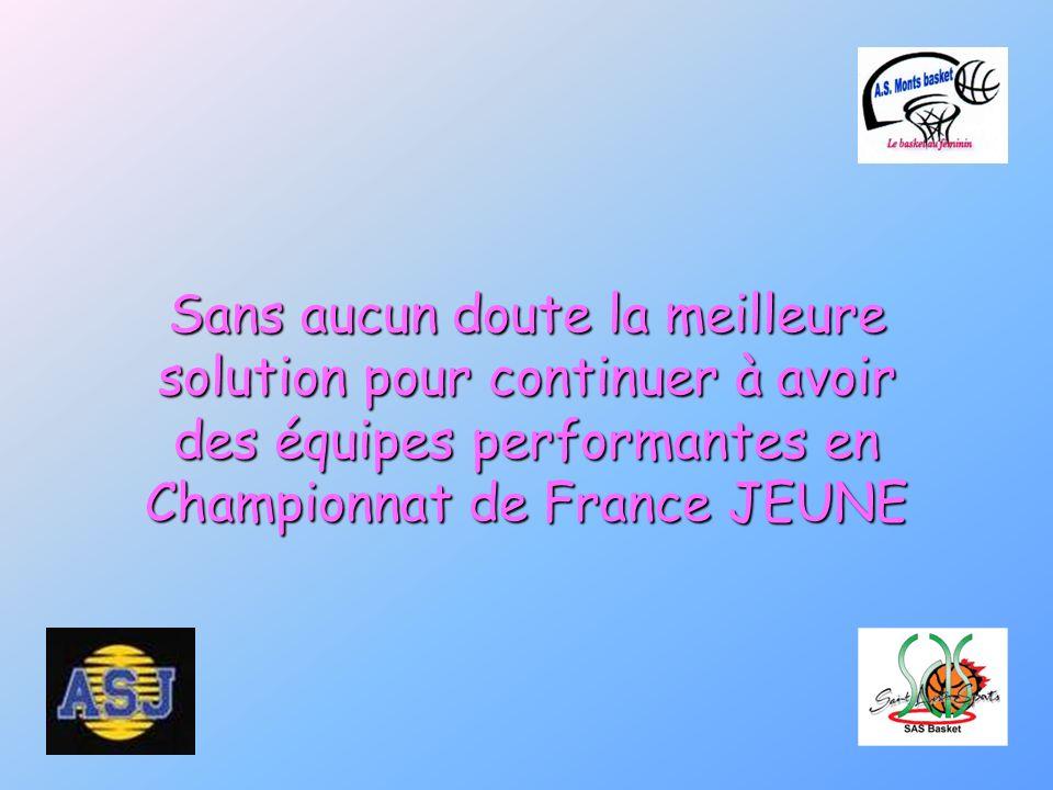 Sans aucun doute la meilleure solution pour continuer à avoir des équipes performantes en Championnat de France JEUNE