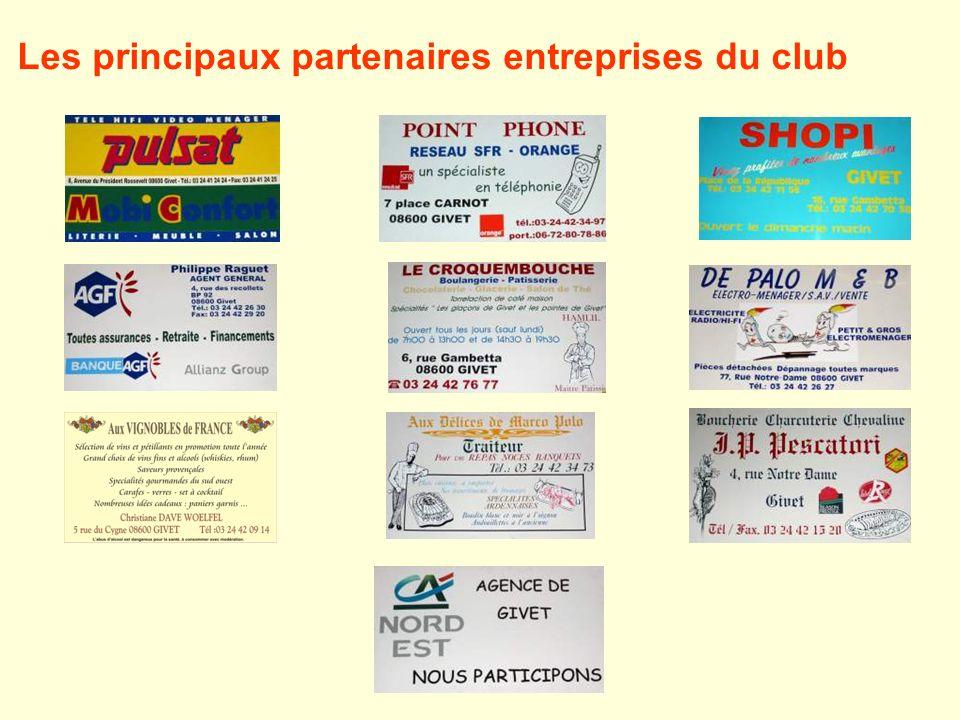 Les principaux partenaires entreprises du club