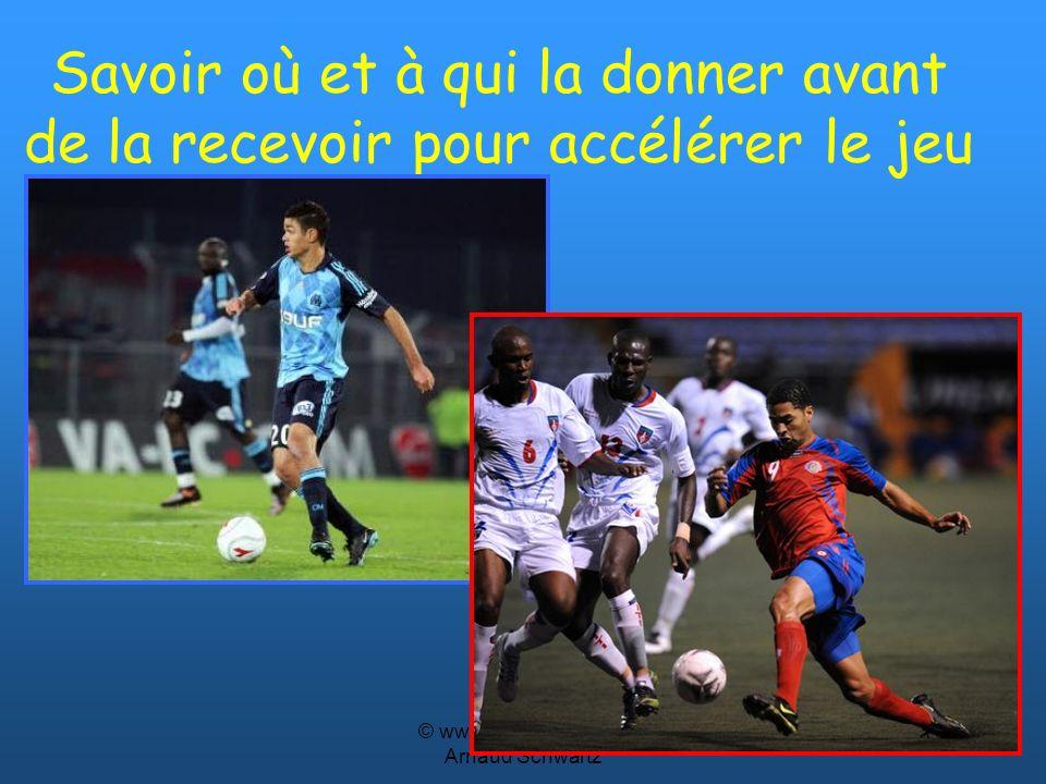 © www.footballcoach.fr Arnaud Schwartz Savoir où et à qui la donner avant de la recevoir pour accélérer le jeu