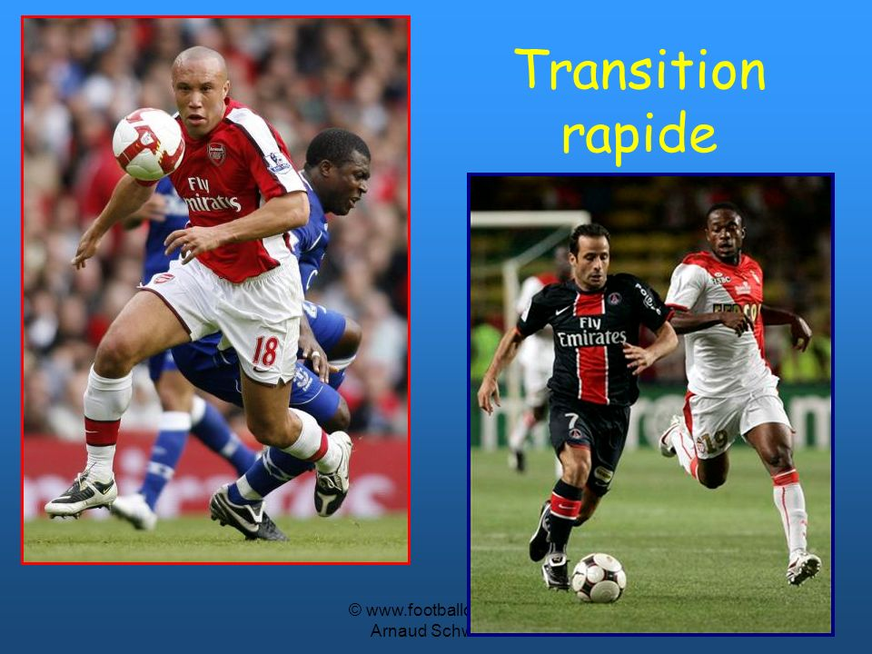 © www.footballcoach.fr Arnaud Schwartz Attaquants Sans le ballon: Etre proche de lautre attaquant dix à quinze mètres, pour les deuxièmes ballons.