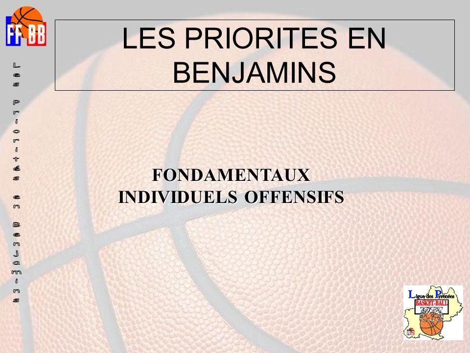 LES PRIORITES EN BENJAMINS FONDAMENTAUX INDIVIDUELS OFFENSIFS