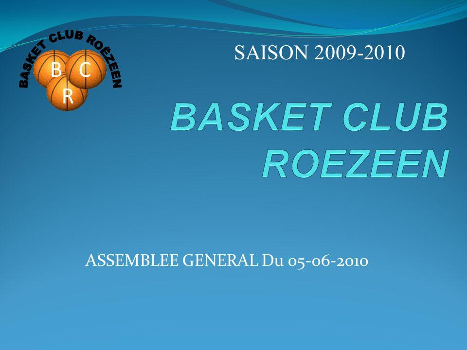 ASSEMBLEE GENERAL Du 05-06-2010 SAISON 2009-2010 BC R