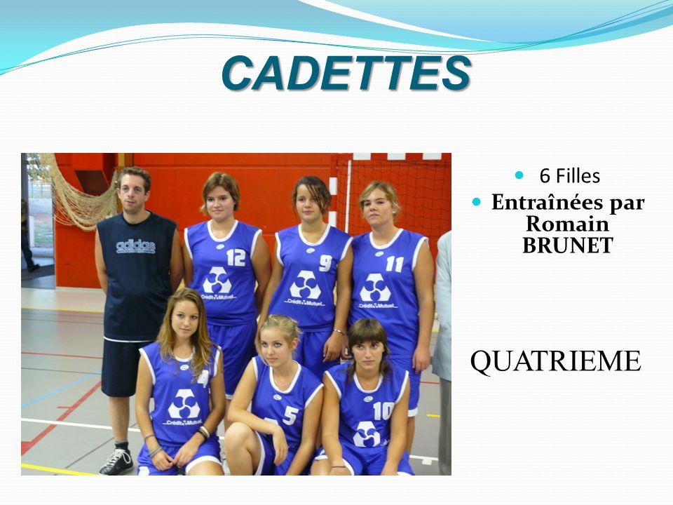 CADETTES 6 Filles Entraînées par Romain BRUNET QUATRIEME