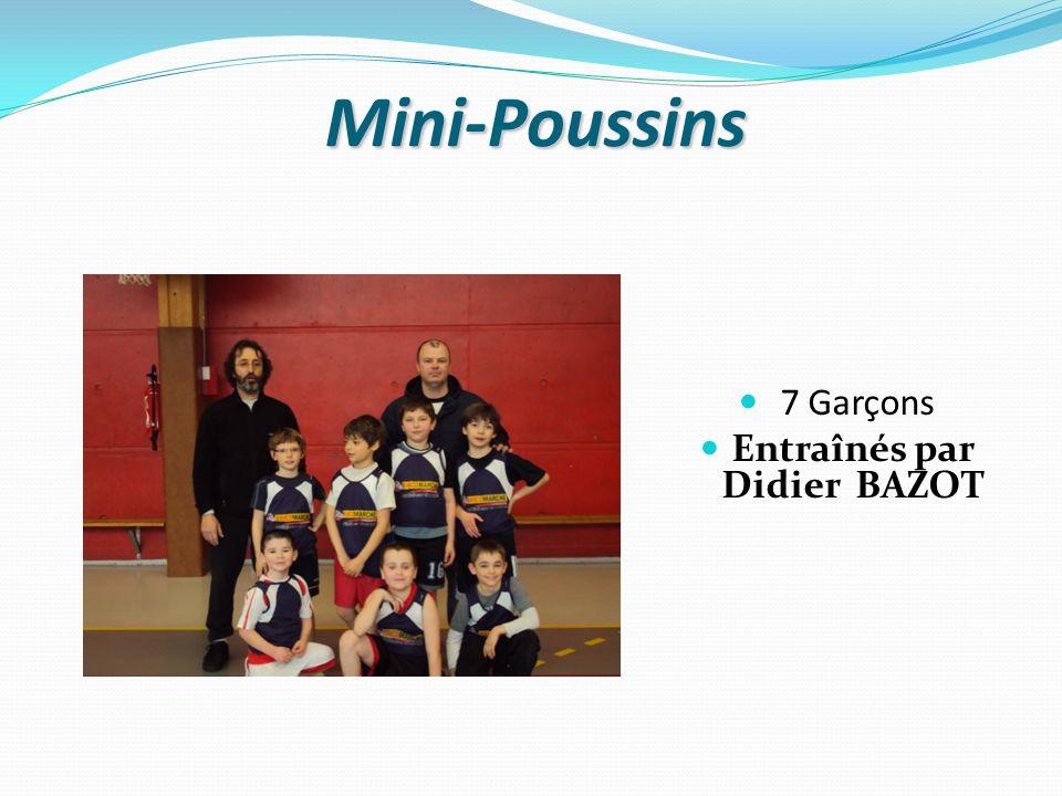 Mini-Poussins 7 Garçons Entraînés par Didier BAZOT