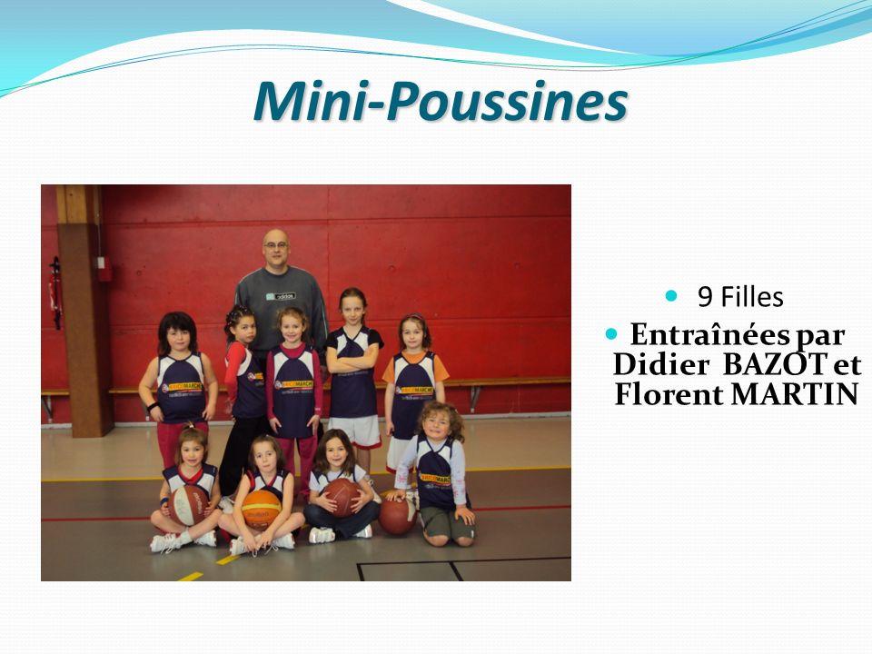 Mini-Poussines 9 Filles Entraînées par Didier BAZOT et Florent MARTIN