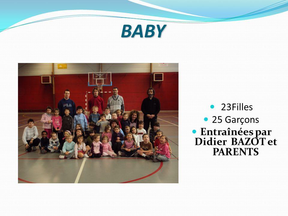 BABY 23Filles 25 Garçons Entraînées par Didier BAZOT et PARENTS