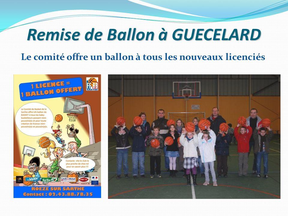 Remise de Ballon à GUECELARD Le comité offre un ballon à tous les nouveaux licenciés