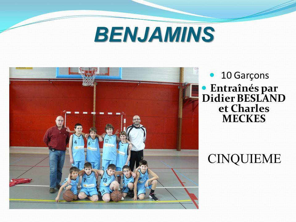 MINIMES MASCULINS 9 Garçons Entraînés par Thierry MEZIERE et Mickael CHEVREUX CINQUIEME