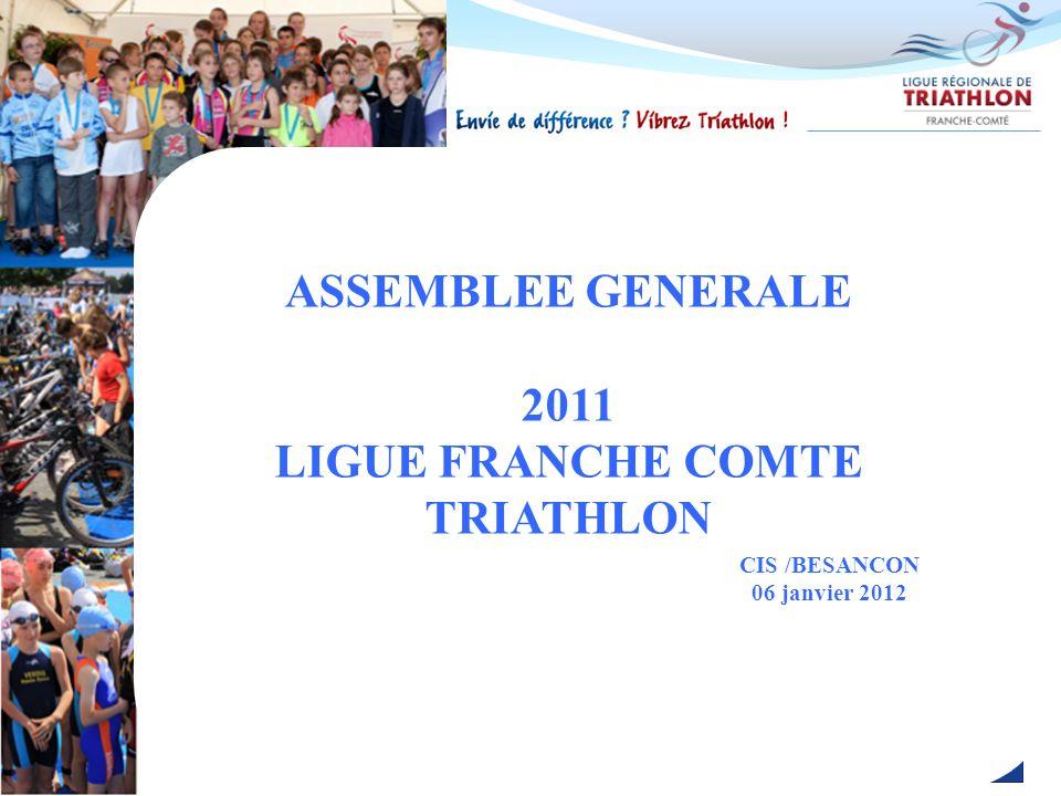 ASSEMBLEE GENERALE 2011 LIGUE FRANCHE COMTE TRIATHLON CIS /BESANCON 06 janvier 2012