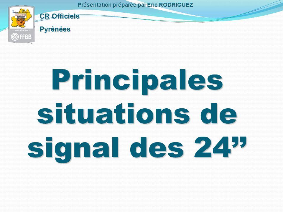 Principales situations de signal des 24 CR Officiels Pyrénées Présentation préparée par Eric RODRIGUEZ