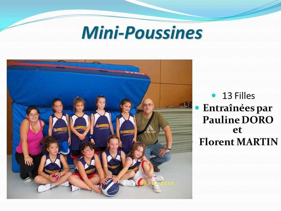 Mini-Poussines 13 Filles Entraînées par Pauline DORO et Florent MARTIN