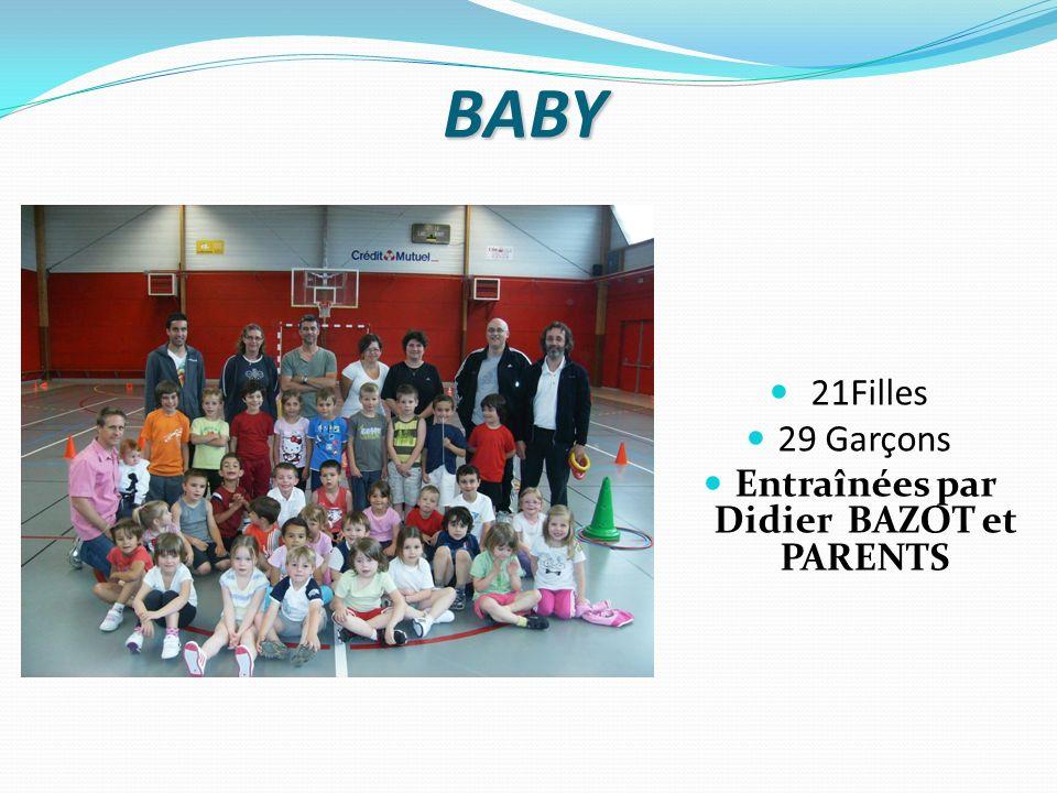 BABY 21Filles 29 Garçons Entraînées par Didier BAZOT et PARENTS