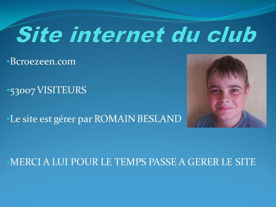 Bcroezeen.com 53007 VISITEURS Le site est gérer par ROMAIN BESLAND MERCI A LUI POUR LE TEMPS PASSE A GERER LE SITE