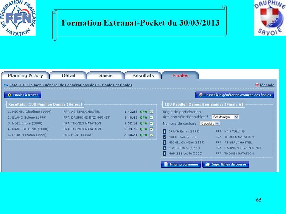 65 Formation Extranat-Pocket du 30/03/2013