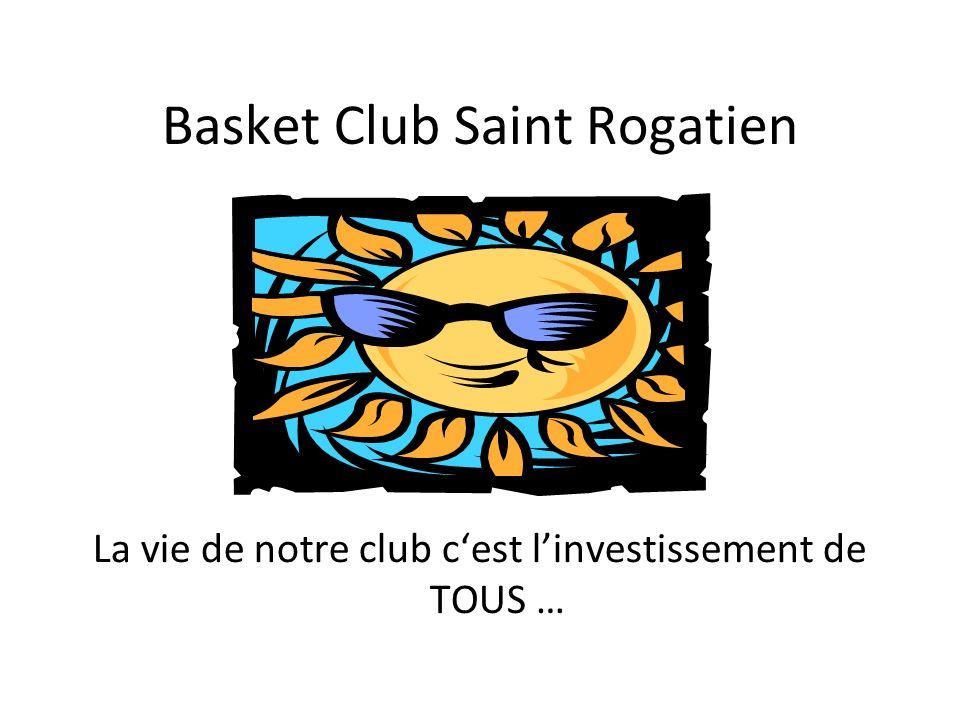 Basket Club Saint Rogatien La vie de notre club cest linvestissement de TOUS …