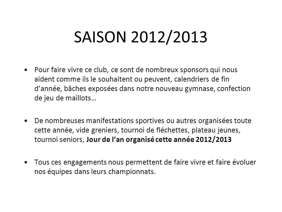 SAISON 2012/2013 Pour faire vivre ce club, ce sont de nombreux sponsors qui nous aident comme ils le souhaitent ou peuvent, calendriers de fin dannée,
