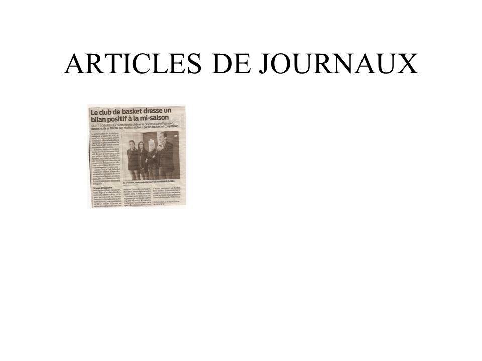 ARTICLES DE JOURNAUX