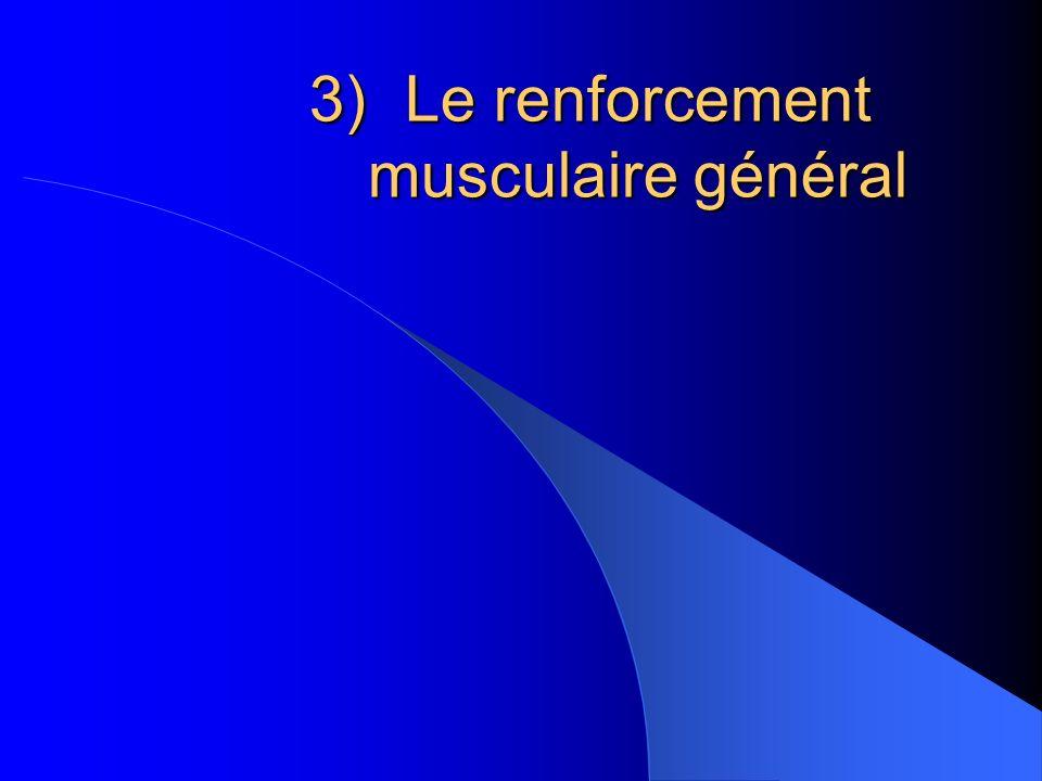 3)Le renforcement musculaire général