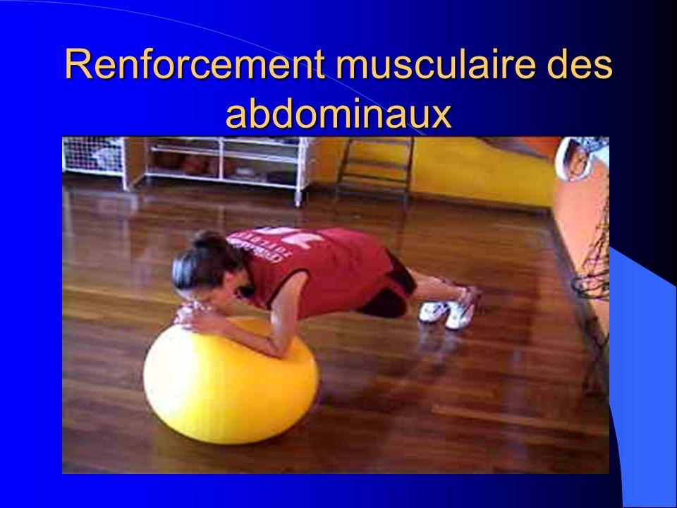 Renforcement musculaire des abdominaux