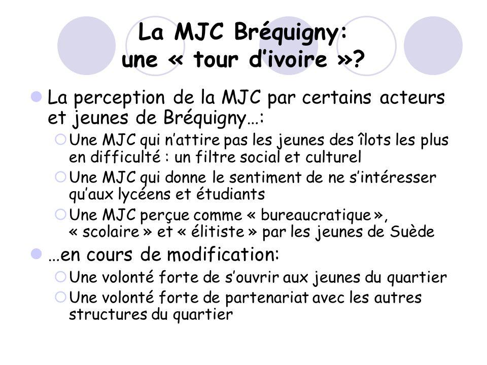 La MJC Bréquigny: une « tour divoire »? La perception de la MJC par certains acteurs et jeunes de Bréquigny…: Une MJC qui nattire pas les jeunes des î