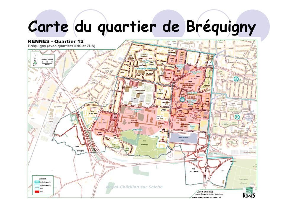 Carte du quartier de Bréquigny