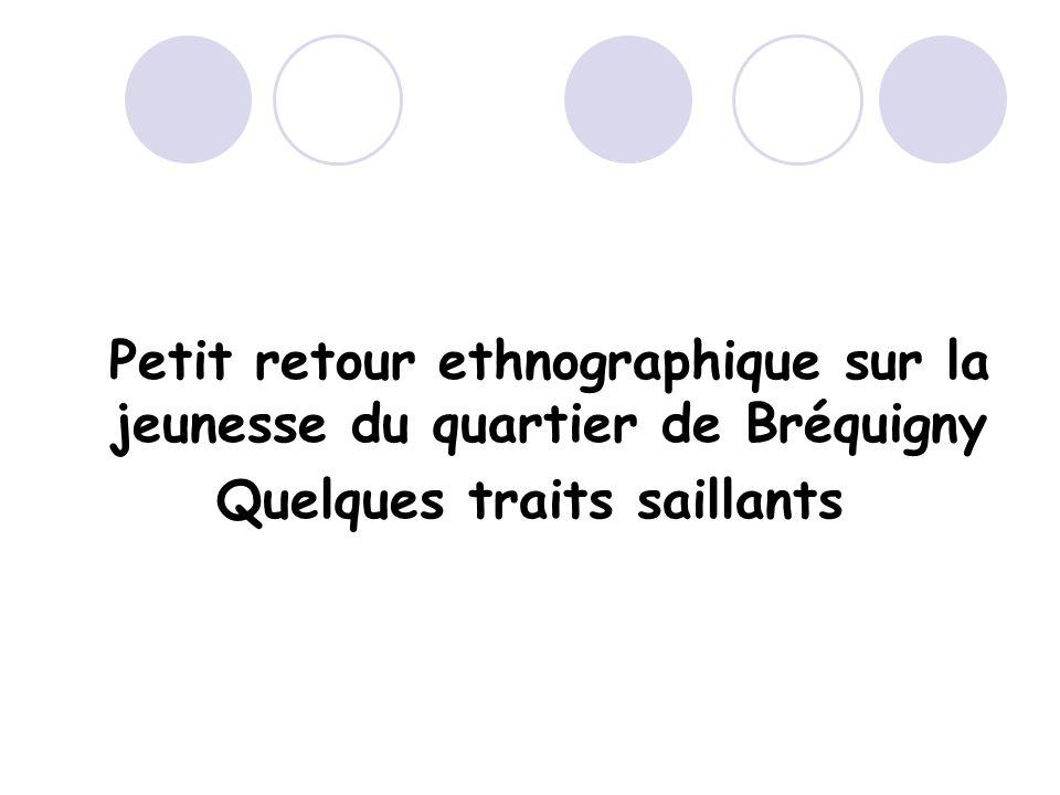 Petit retour ethnographique sur la jeunesse du quartier de Bréquigny Quelques traits saillants