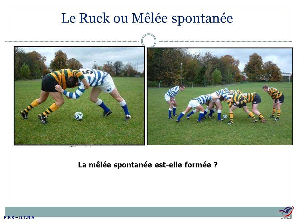 F.F.R – D.T.N.A Le Ruck ou Mêlée spontanée La mêlée spontanée est-elle formée ?