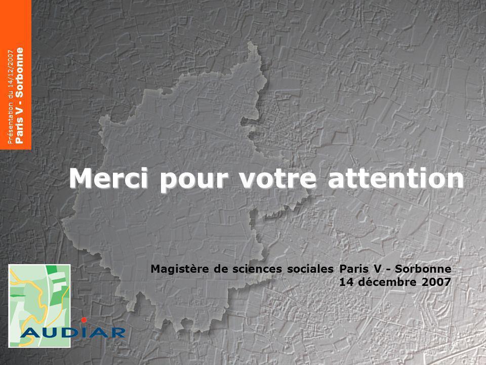 Éléments de méthode sur lévaluation Présentation du 7/03/2008 RésO Villes 24 Merci pour votre attention Magistère de sciences sociales Paris V - Sorbonne 14 décembre 2007 Présentation du 14/12/2007 Paris V - Sorbonne