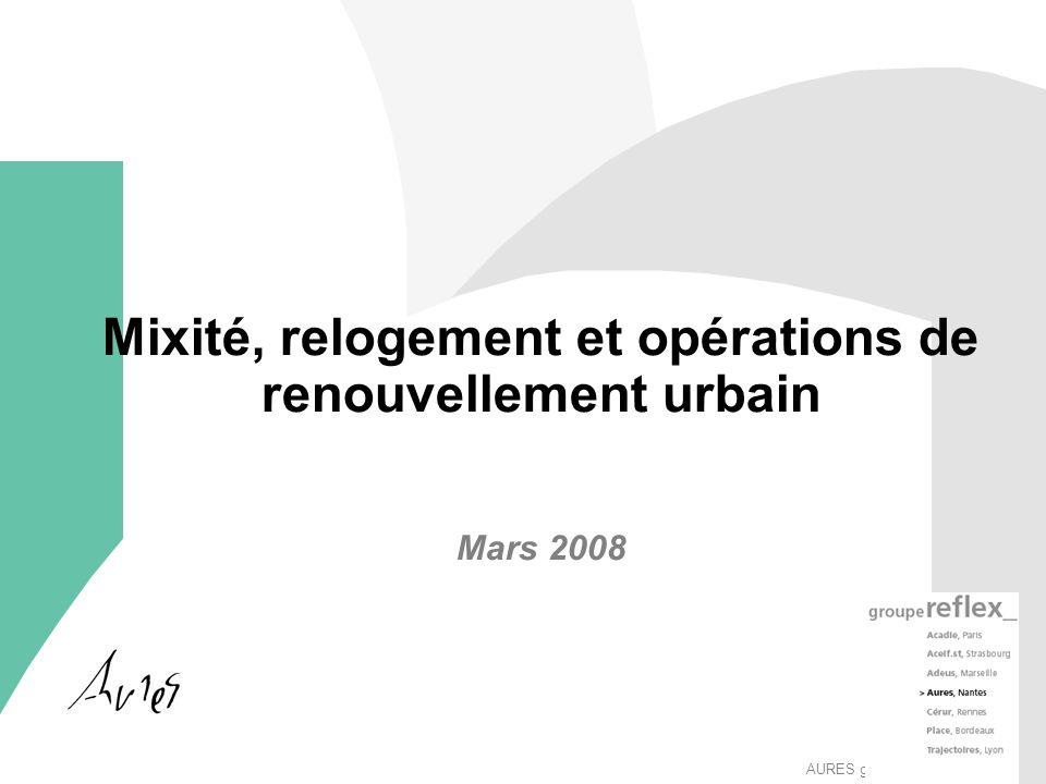 AURES groupeReflex_ Mixité, relogement et opérations de renouvellement urbain Mars 2008