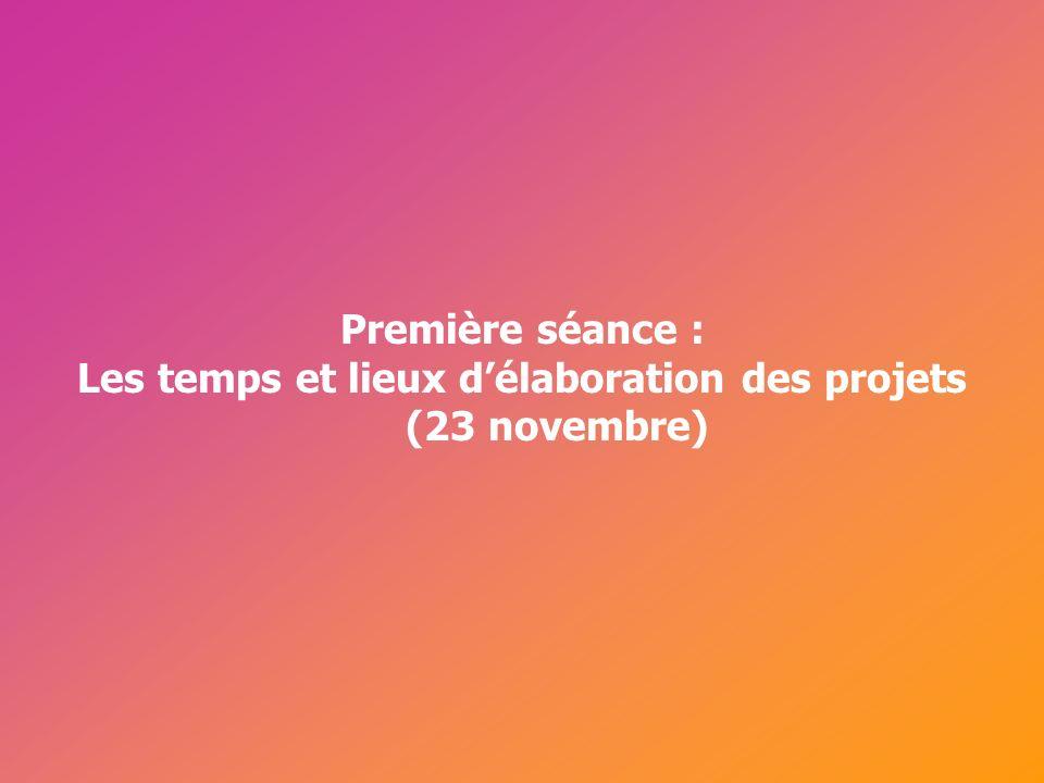 Cérur, groupe Reflex_ Première séance : Les temps et lieux délaboration des projets (23 novembre)