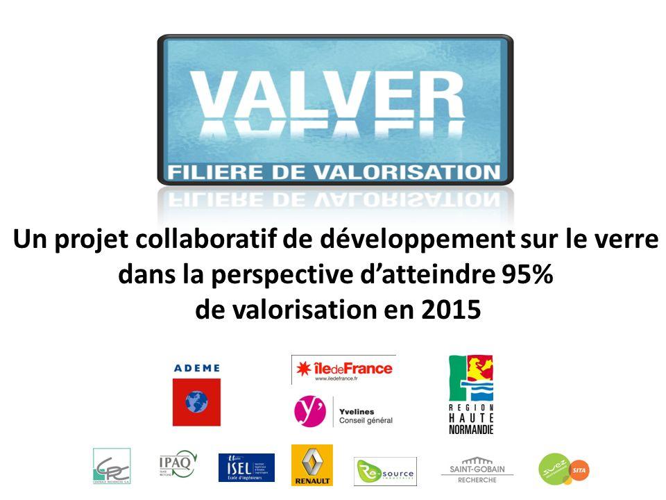 Un projet collaboratif de développement sur le verre dans la perspective datteindre 95% de valorisation en 2015