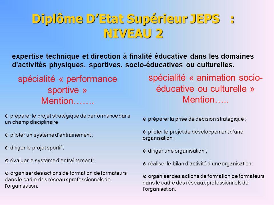 expertise technique et direction à finalité éducative dans les domaines d activités physiques, sportives, socio-éducatives ou culturelles.