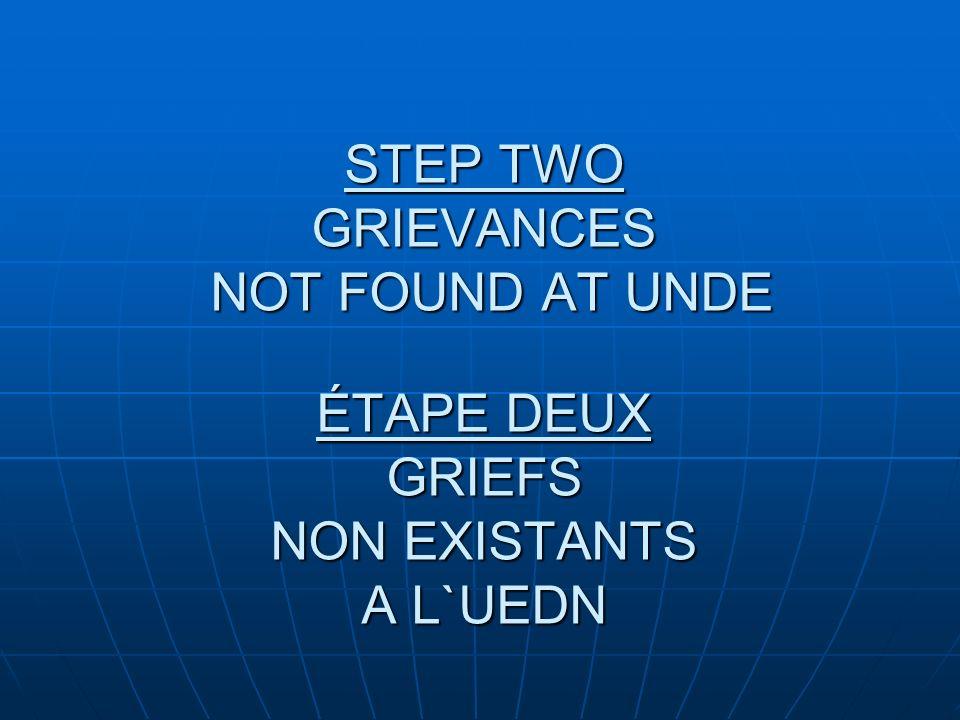 ÉTAPE SIX AVIS DAUDITION STEP SIX NOTICE OF HEARING