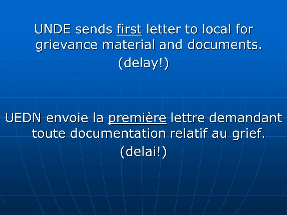 If grievance is received and includes a 3 rd level transmittal form, the file is passed to the assigned U.S.O.