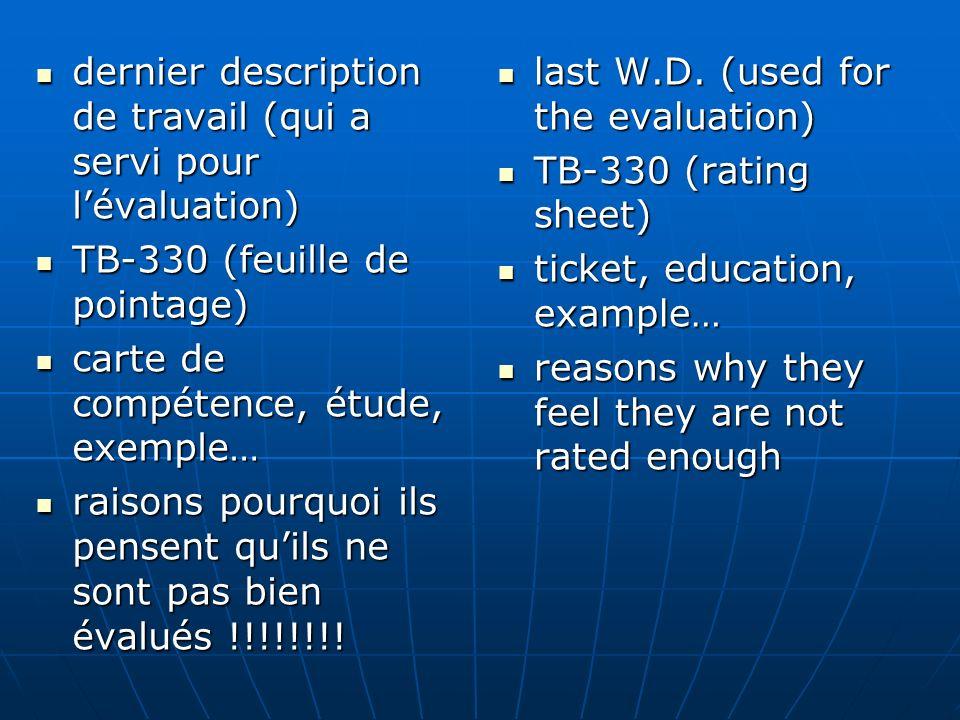 dernier description de travail (qui a servi pour lévaluation) dernier description de travail (qui a servi pour lévaluation) TB-330 (feuille de pointag