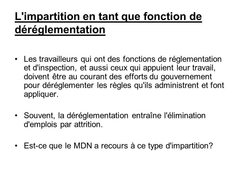 L'impartition en tant que fonction de déréglementation Les travailleurs qui ont des fonctions de réglementation et d'inspection, et aussi ceux qui app