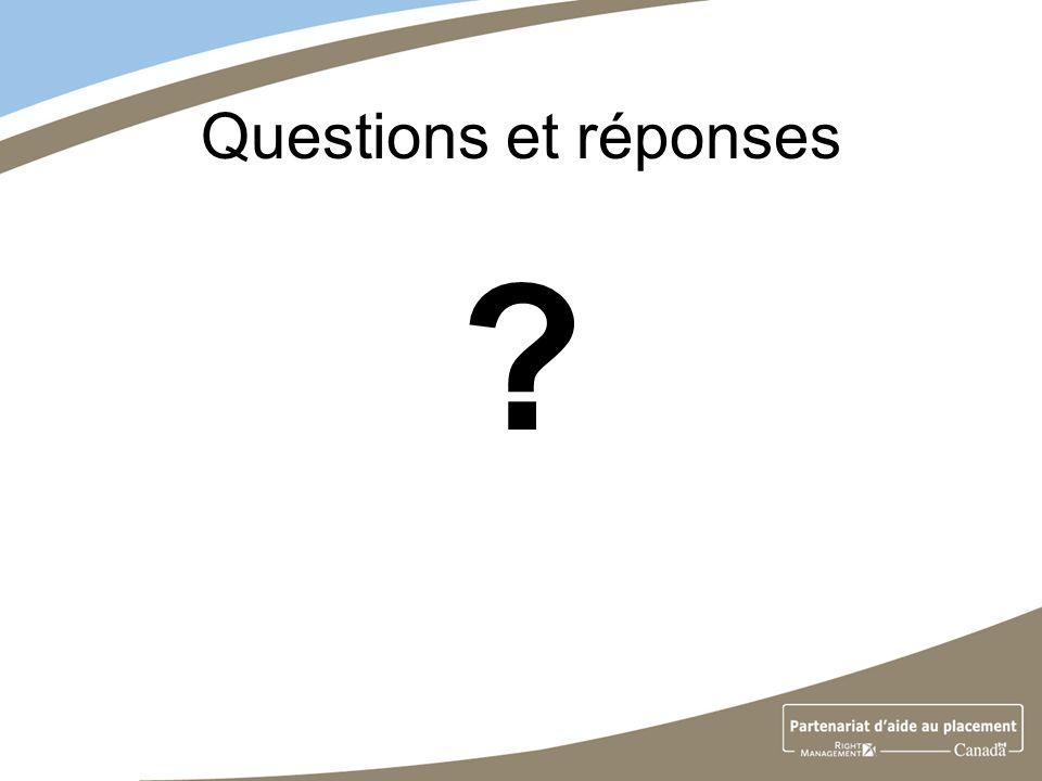 Questions et réponses ?