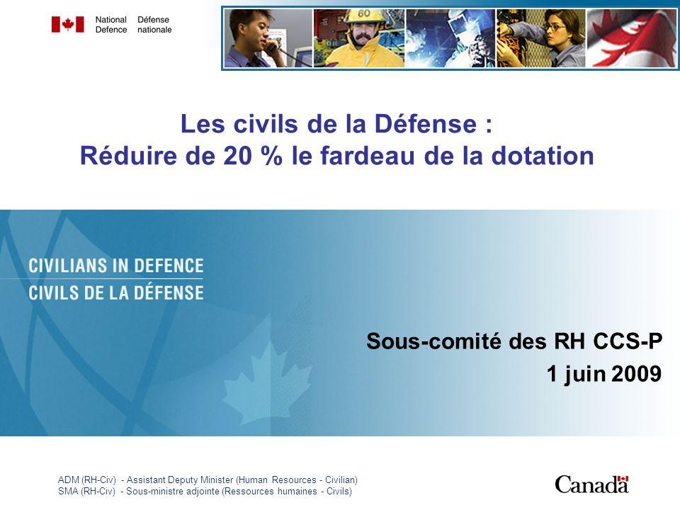 ADM (RH-Civ) - Assistant Deputy Minister (Human Resources - Civilian) SMA (RH-Civ) - Sous-ministre adjointe (Ressources humaines - Civils) 1 Les civil